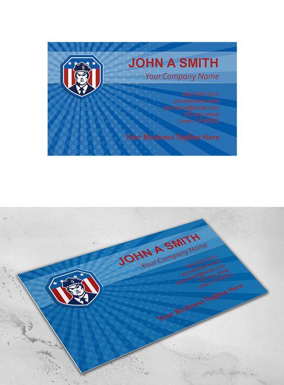 Business Card Template American Secu Business Card Template Business Cards Creative Templates Business Card Template Design