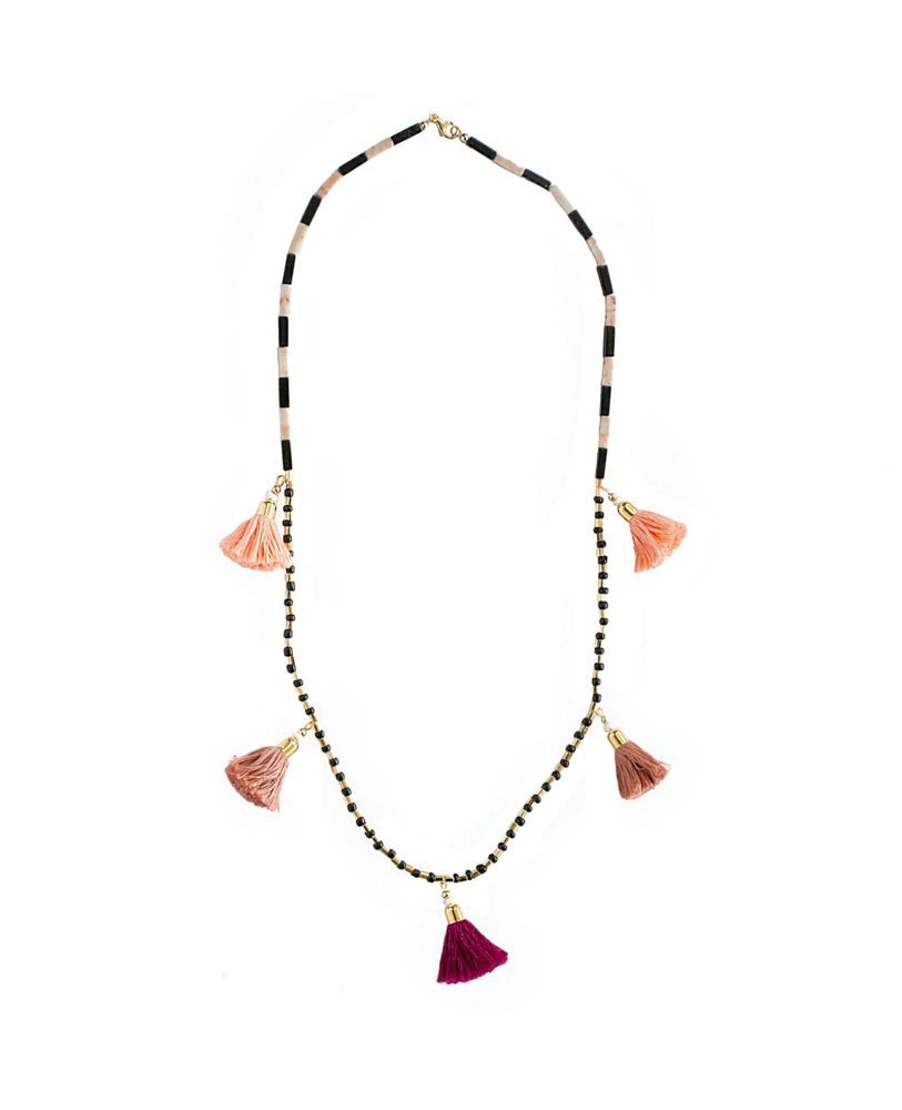 Tassel Garland Necklace - Coralie Reiter Jewelry - $61.99 - domino.com