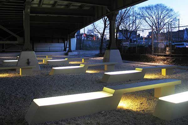 Marsupial Bridge and Urban Plaza by La Dallman in Wisconsin, USA