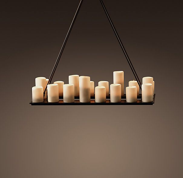 Pillar Candle Rectangular Chandelier Small From Restoration Hardware For 1300