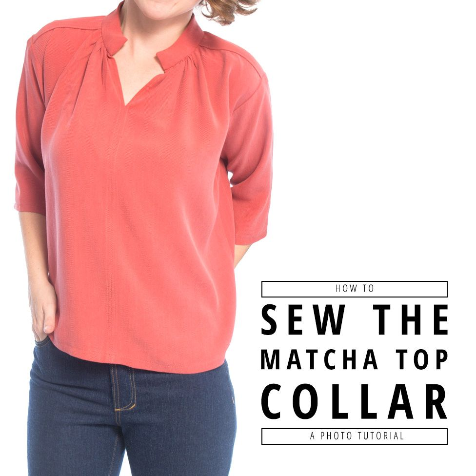 How to Sew the Matcha Top Collar | Kleidung nähen, Kleidung und Nähen