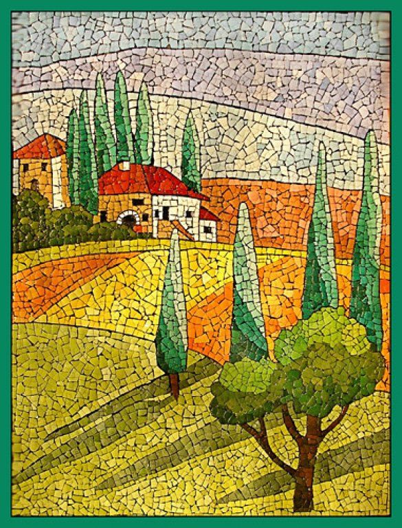 Con cascaras de huevos mosaics manualidades and for Mosaic landscape design