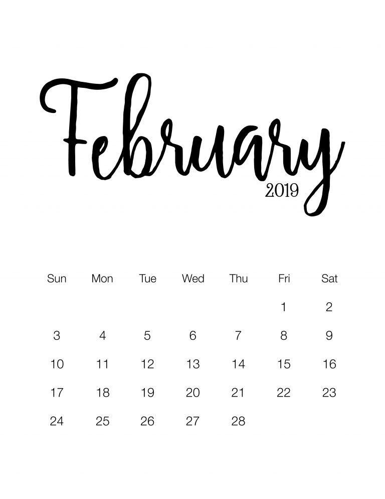 Market Calendar 2019 Fabulous and Free Printable 2019 Minimalistic Calendar   Calendar