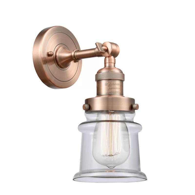 Photo of Aanya Small Canton 1-light armed wall lamp