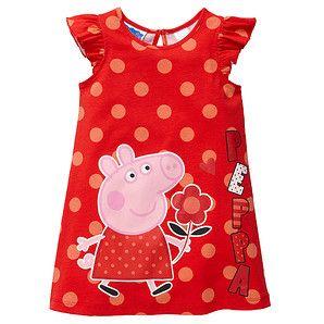 Girls' Peppa Pig Knit Dress Red Target Australia