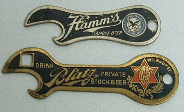 Decorative Bottle Openers Brewery Advertising  Breweriana Beer Signs  Antique Bottle