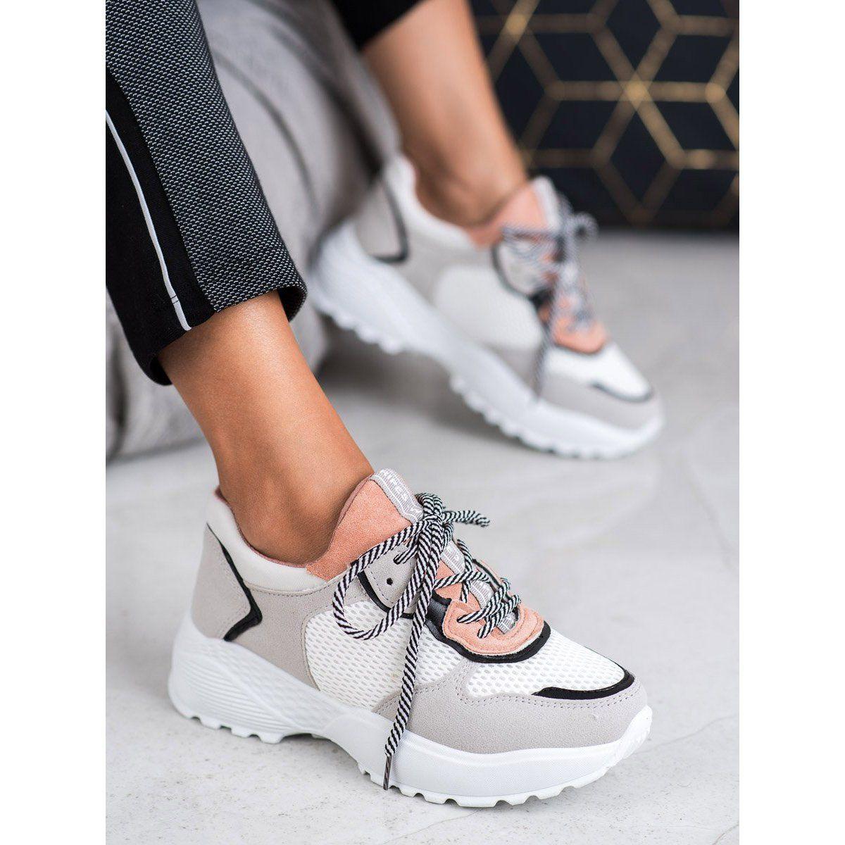 Shelovet Modne Sneakersy Rozowe Szare Air Max Sneakers Sneakers Nike Nike Air Max
