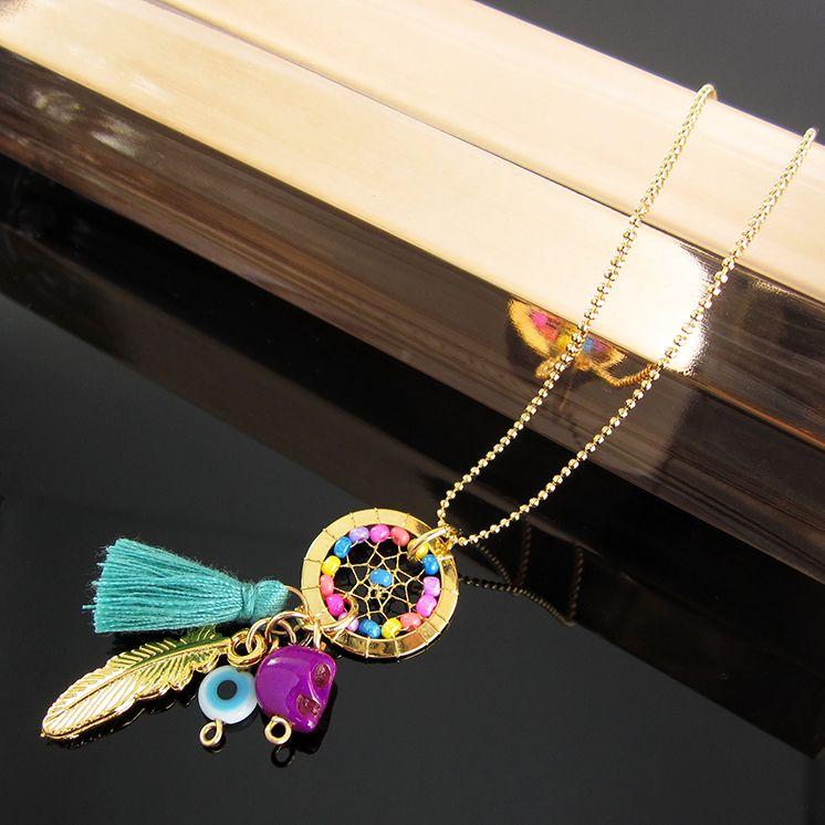 07eec65e5fe6 Collares Mujer Atrapasueños Cadena Oro GoldFilled Lindas Joyas  Dreamcatchers necklace jewerly
