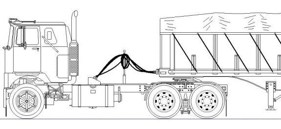 mack classic truck drawings