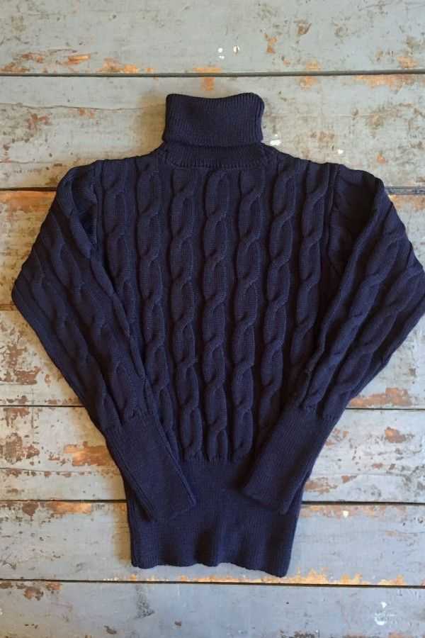 298a5289c40e @maryfcook7 : North Sea Clothing The Convoy Sweater Navy Cable Knit Wool