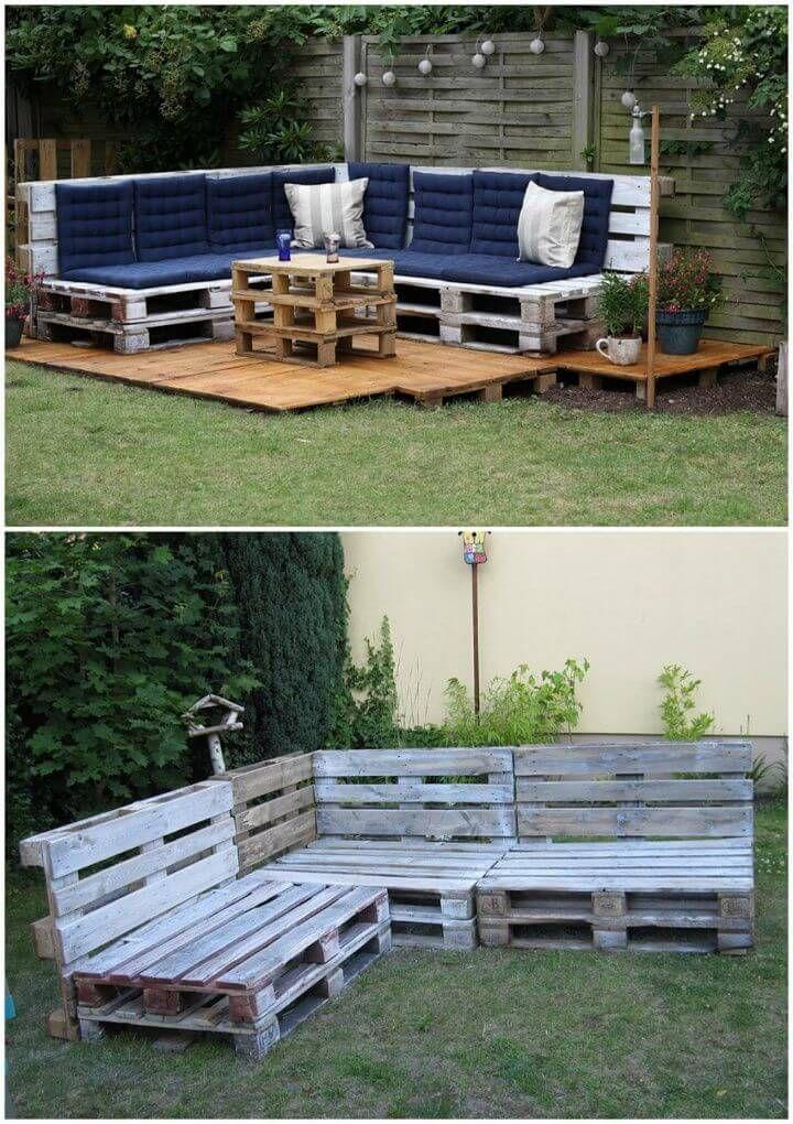 45 pallet garden furniture ideas for the courtyard