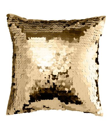 Gold Sequin Cushion Cover Was 9 99 Now 7 With Images H M