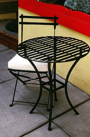 Wrought Iron Patio Furniture, Cleaning Rod Iron Outdoor Furniture