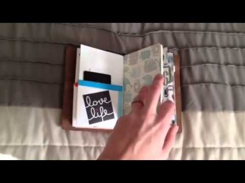 Flip through of my field note size chic sparrow wallet - YouTube - field note