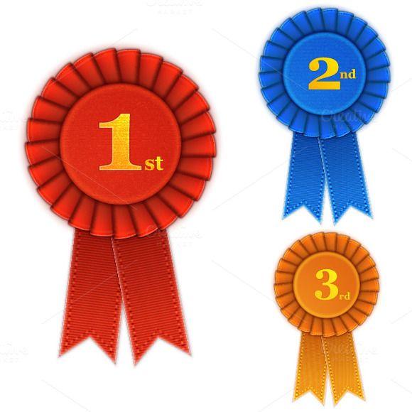Winner Rosette Set With Ribbons Certificate Design Template Awards Certificates Design Certificate Design