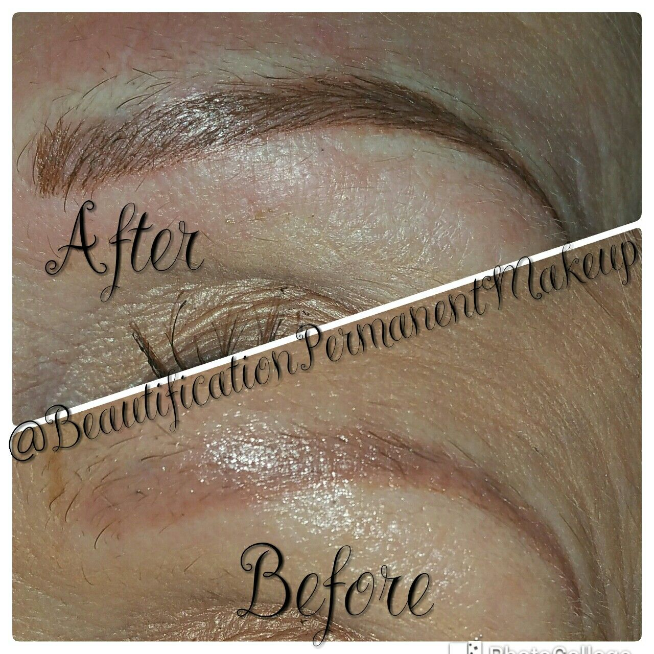 Microblading before and after contact me for permanent