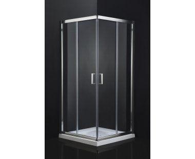 Mampara de ducha angular shira perfil cromo dim 190 x for Mamparas bd