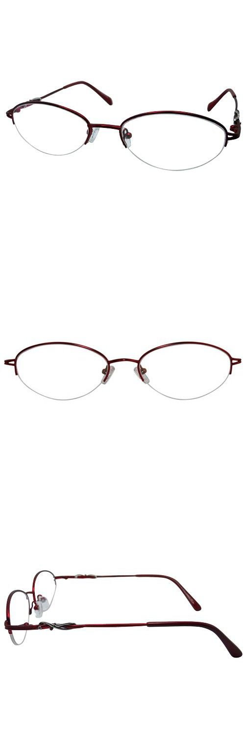66cfccc358d EyeBuyExpress Oval Burgundy Reading Glasses Magnification Strength 3.75