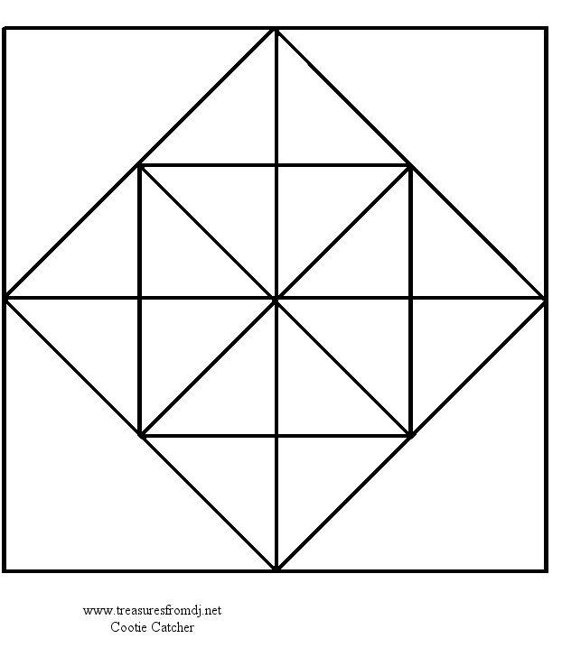 Cootie Catchers Origami Fortune Teller Cootie Catcher Template