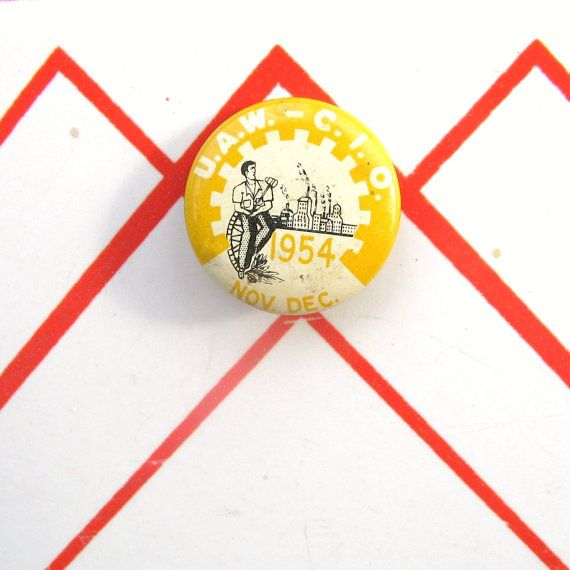 '54 UAW CIO pin