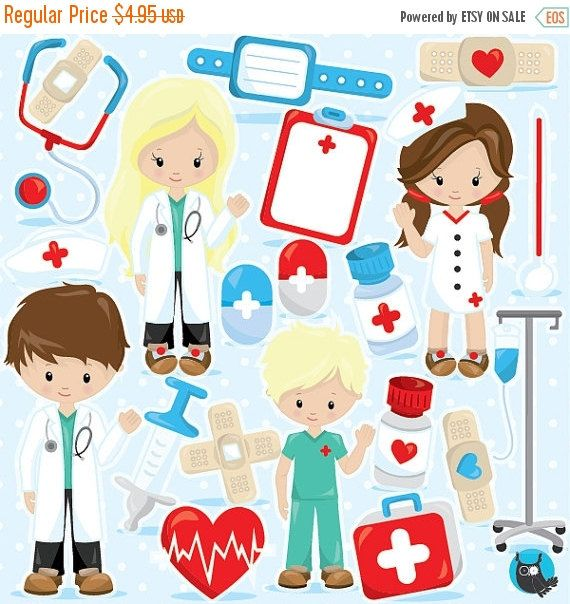 80% OFF SALE Doctor clipart commercial use by Prettygrafikdesign ...