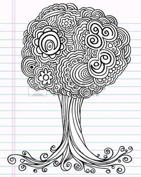 arbre dessin notebook henna doodle arbre croquis. Black Bedroom Furniture Sets. Home Design Ideas