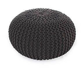 pouf tricot coton gris fonc 55 projets essayer pinterest tricot. Black Bedroom Furniture Sets. Home Design Ideas