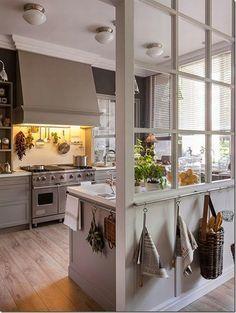 case e interni: Un\'idea molto chic per cucina, pranzo e lavanderia ...