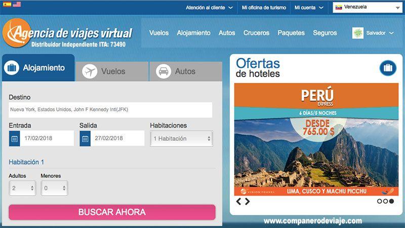 web virtual de alojamiento para adultos