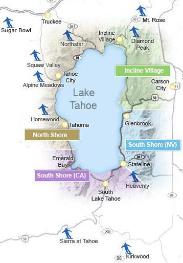 lake tahoe resorts map Skiing In Lake Tahoe Ski Lake Tahoe Lake Tahoe Ski Resorts lake tahoe resorts map