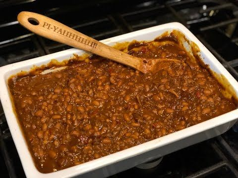 Baked Bean Casserole by The Cajun Ninja - YouTube #cajuncooking