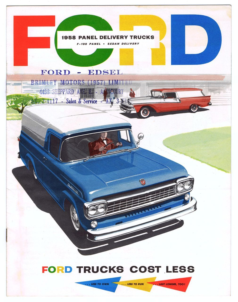1958 FORD Panel Delivery TRUCKS Sales Brochure | Ford trucks, Ford ...