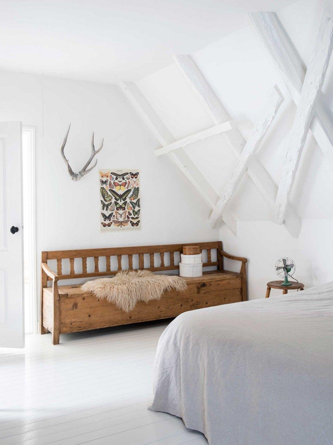 8 slaapkamer wit klepbank hout