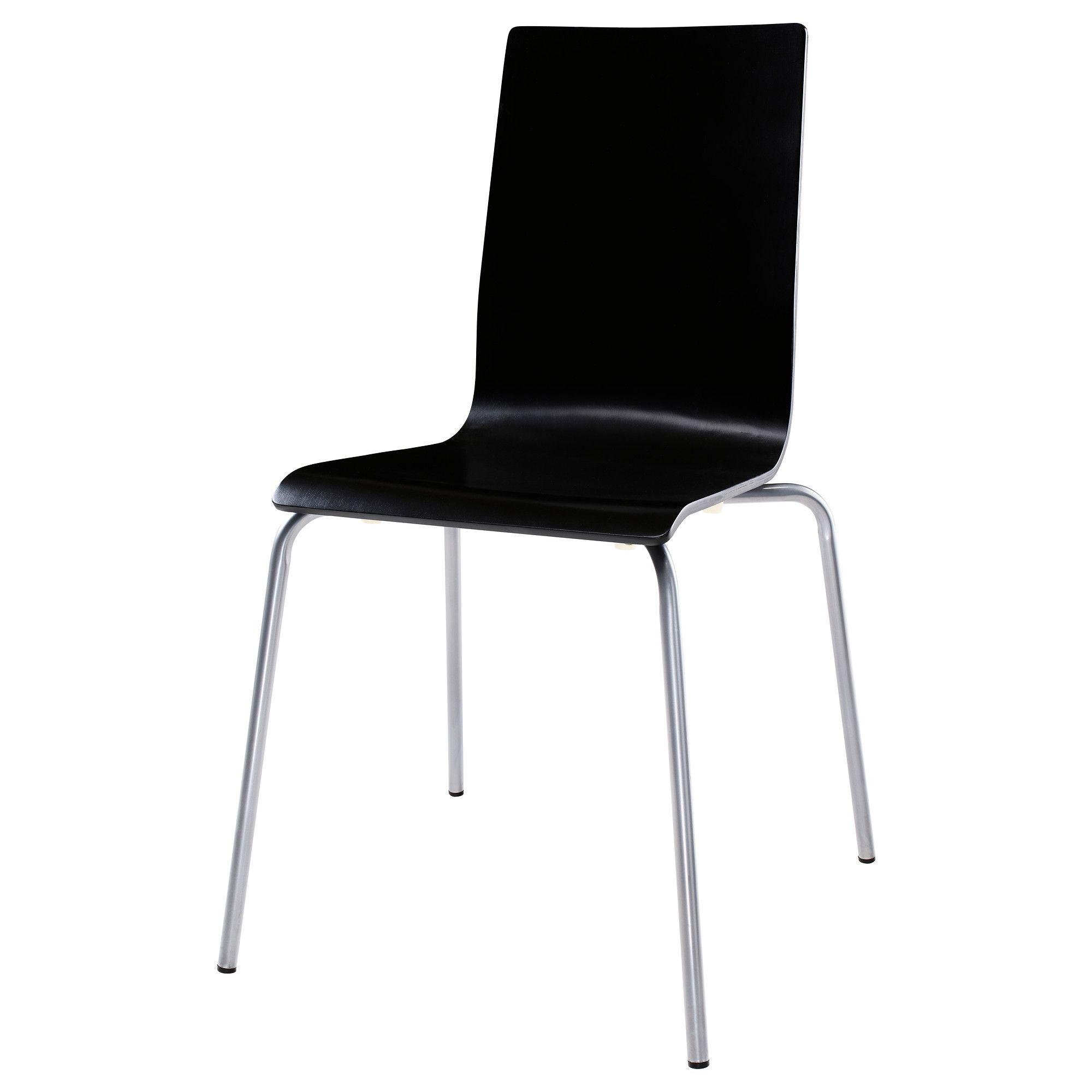 martin stuhl silberfarben schwarz ikea drossel. Black Bedroom Furniture Sets. Home Design Ideas