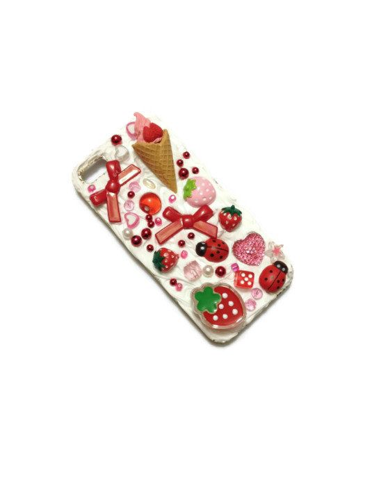 Kawaii Decoden Mobile Phone Case  iPhone 5 by PurpleSmoothie, $25.00  #Kawaii #Decoden #Funky #iPhone #iPhone5 #Cutesy #Kitsch