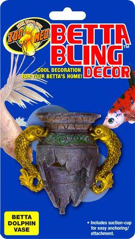 Betta Bling™ Decor - Dolphin Vase