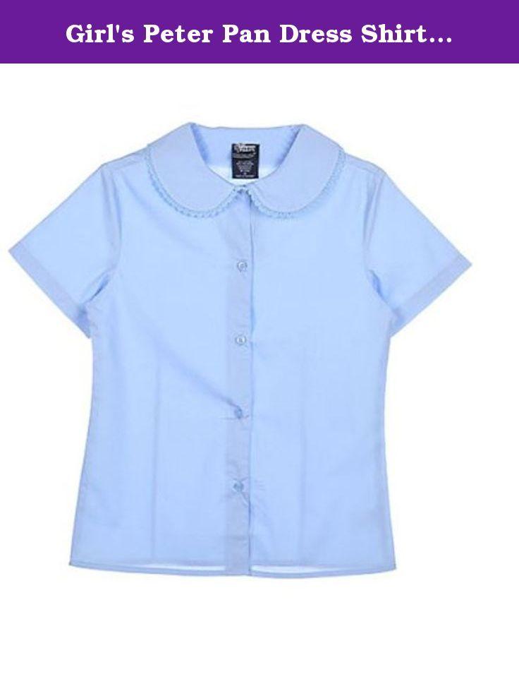 Girls Dockers Uniform White Button Down Short Sleeved Shirt Size 5-6X