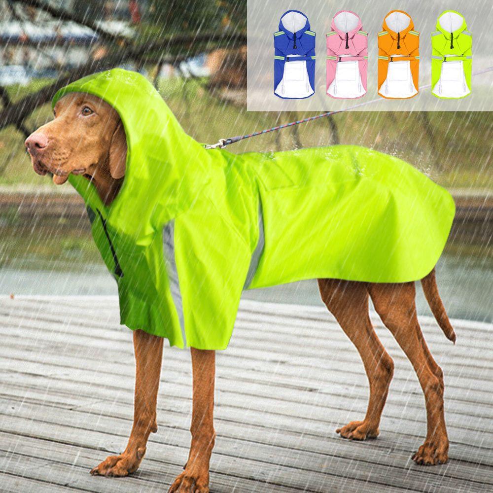 Dog Raincoats Beautiful Raincoat For Dogs Waterproof Dog Coat Pet Jacket Reflective Dog Raincoat Puppy Clothes Home & Garden