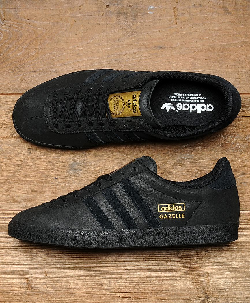 quality design 31462 7212e Scotts Menswear Exclusive - Adidas Gazelle OG Black  Gold