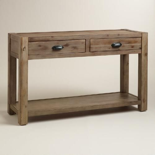 Wood Quade Console Table Rustic Console Tables Rustic Consoles Entry Console Table