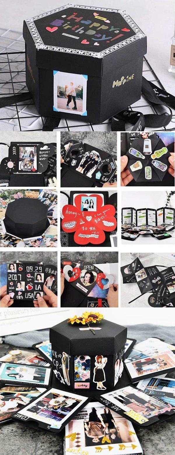 Creative DIY Explosion Box Love Memory Photo Album Birthday Anniversary Gifts. #dresslily #gifts #birthday