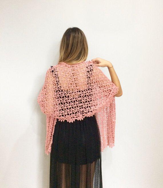 Stola Elegante In Seta Cashmere Scialle Rosa Alluncinetto Idea