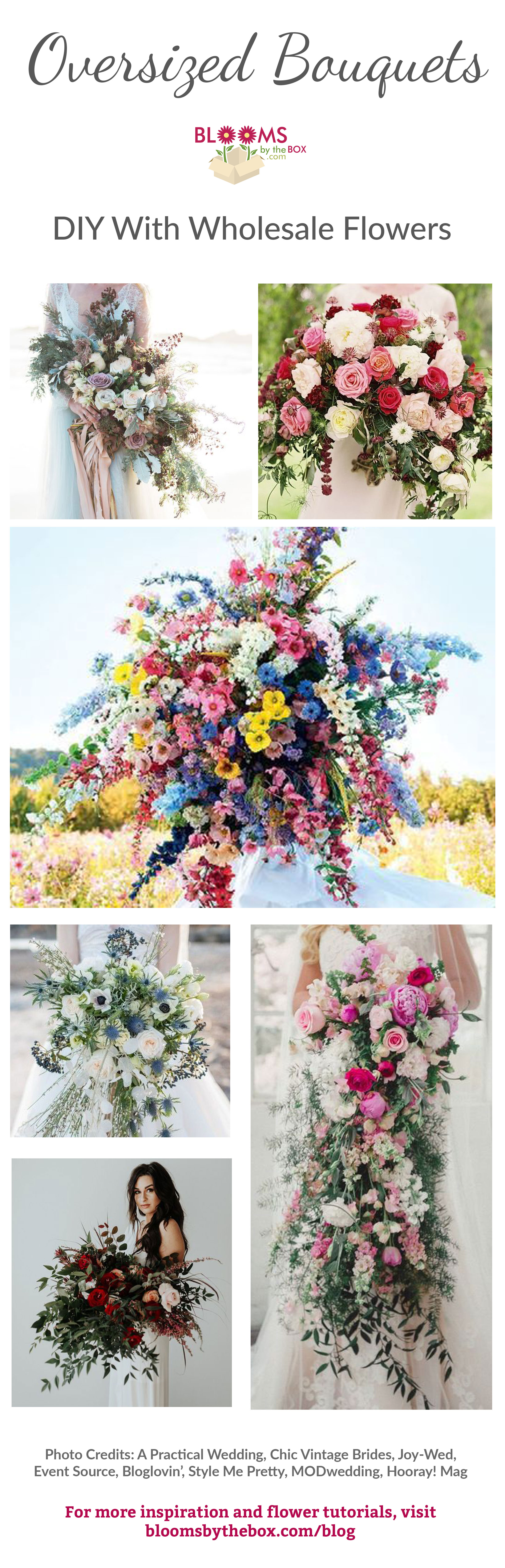 The Oversized Bouquets Brides are Hauling Down the Aisle
