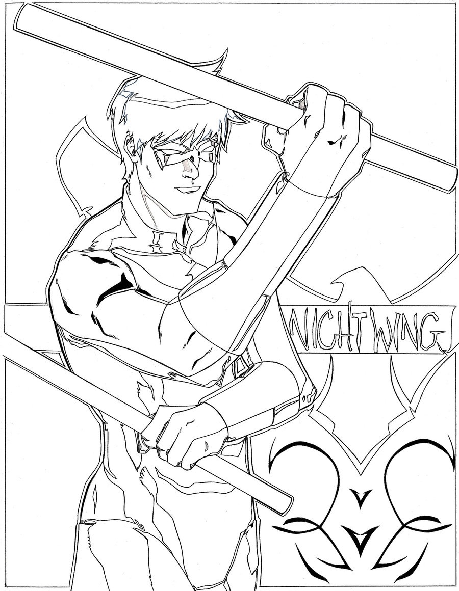 Nightwing Super Hero Coloring Pages Educative Printable Toddler Coloring Book Coloring Pages For Kids Kids Printable Coloring Pages