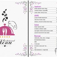 Plantilla Para Menú De Restaurante Editable En Word Menú De