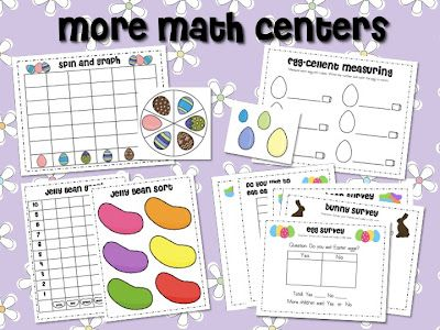 Mrs. Ricca's Kindergarten: Easter Math & Literacy Centers...and a FREEBIE!