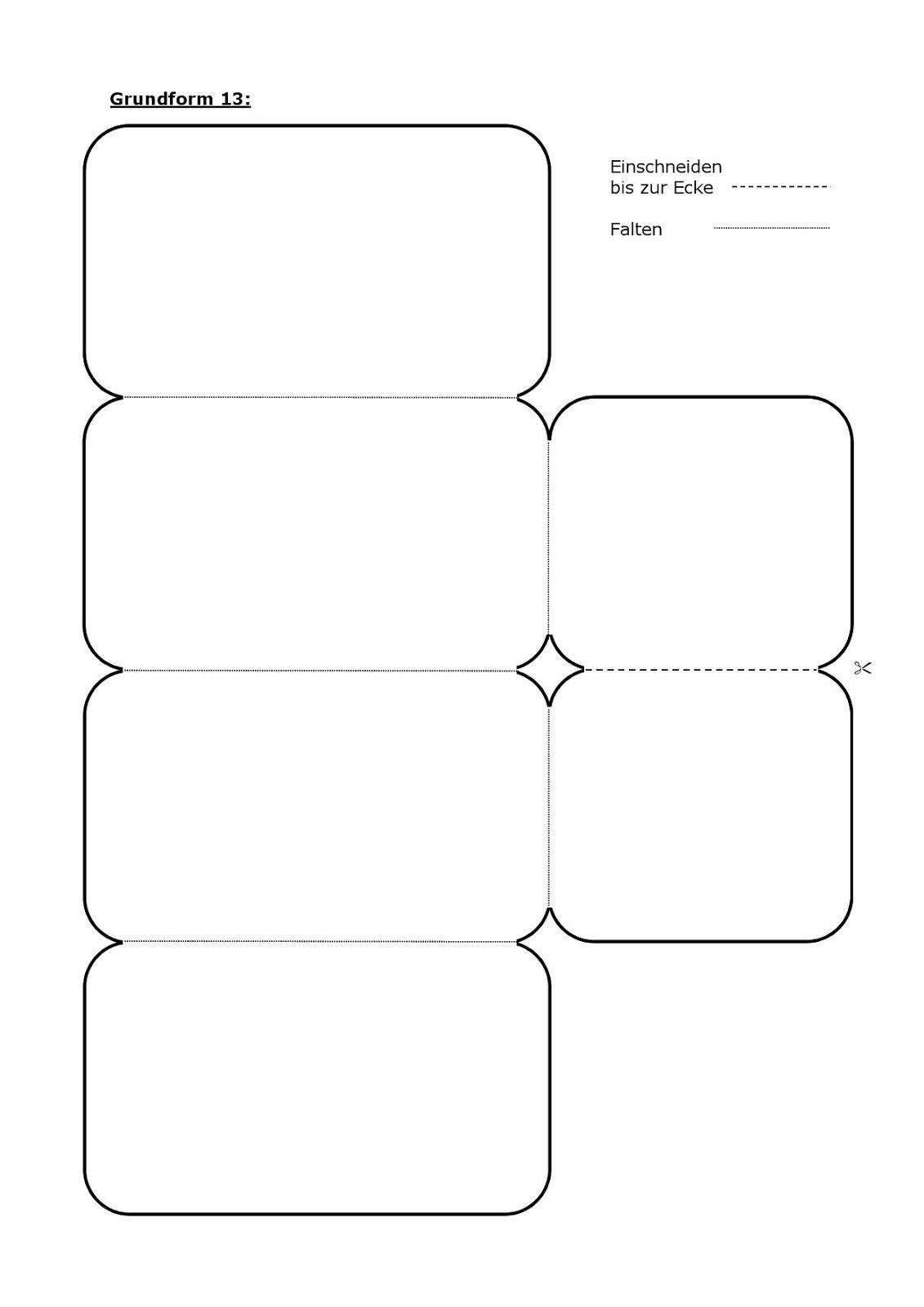 Grundformen Lapbook Vorlagen Blanko Click 6