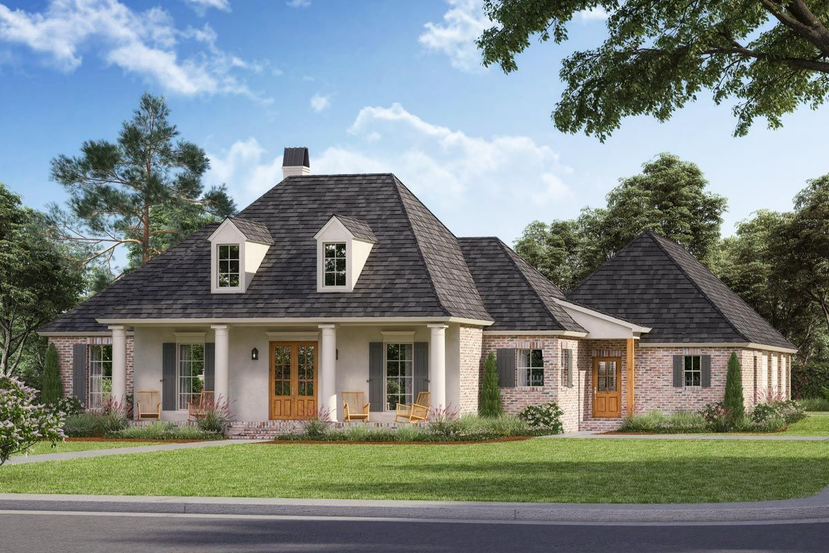 Plan 56341sm Four Bed French Country House Plan Brick House Plans Farmhouse Style House Plans French Country House