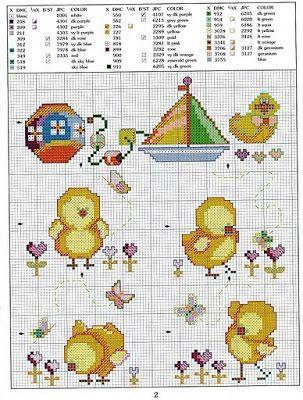 Cross-stitch Chick
