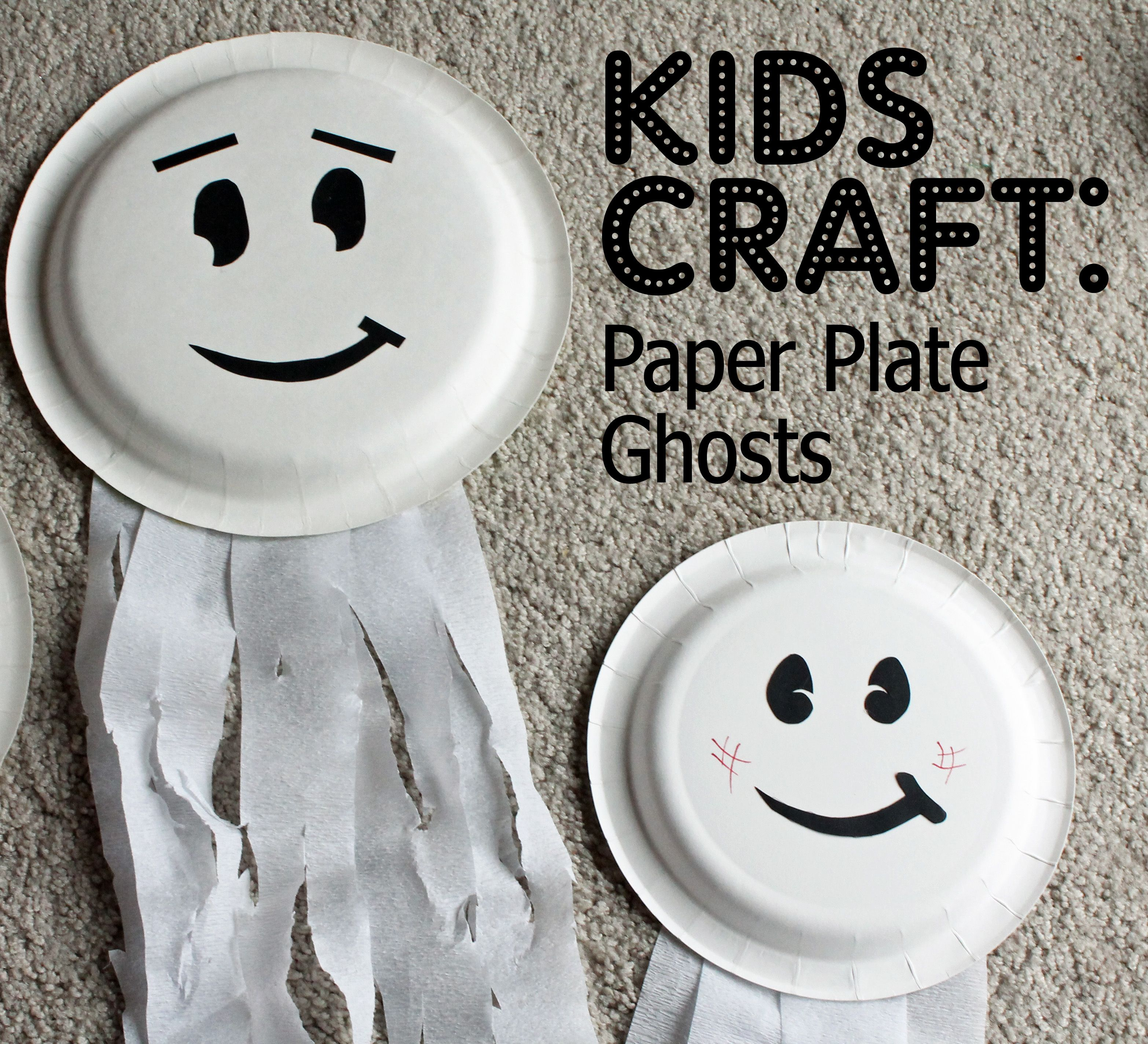 Paper Plate Ghosts - Who Arted? & Paper Plate Ghosts - Who Arted? | Trick Or Treat | Pinterest | Craft ...